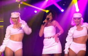 Настя Каменских выступила на шоу Вечерний Ургант с песней «Эта моя ночь»