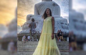 Ольга Бузова выбрала летящее романтичное платье для отпуска