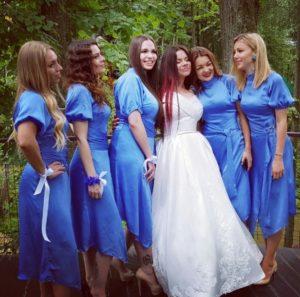 Бьянка с подругами, фото со свадьбы