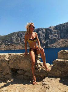 Яна Башкирева-Вайновская в очень красивом купальнике