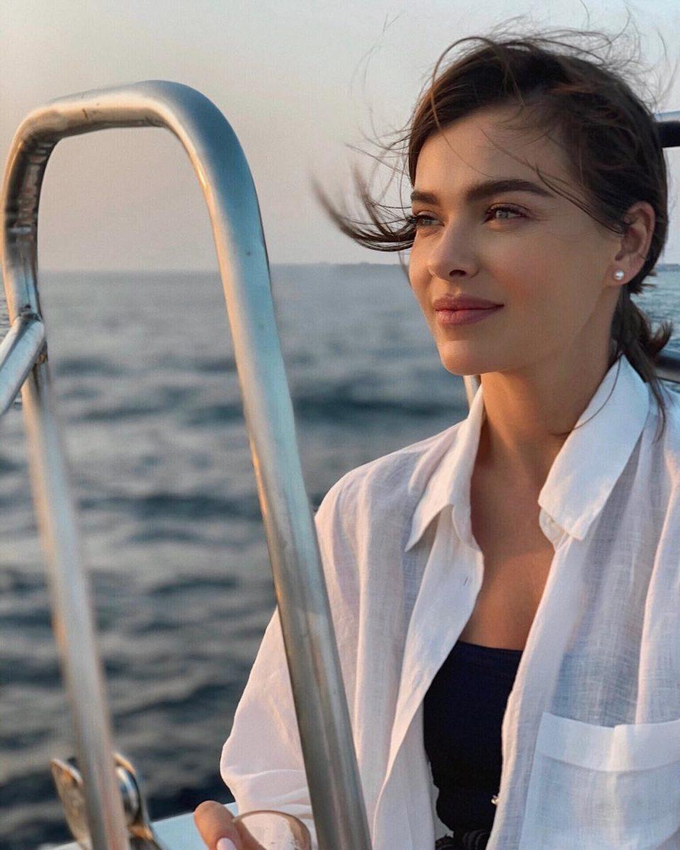 Елена Темникова на Мальдивах