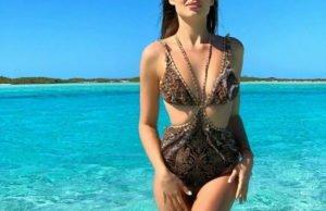 Ханна продемонстрировала фигуру в купальнике на Багамах