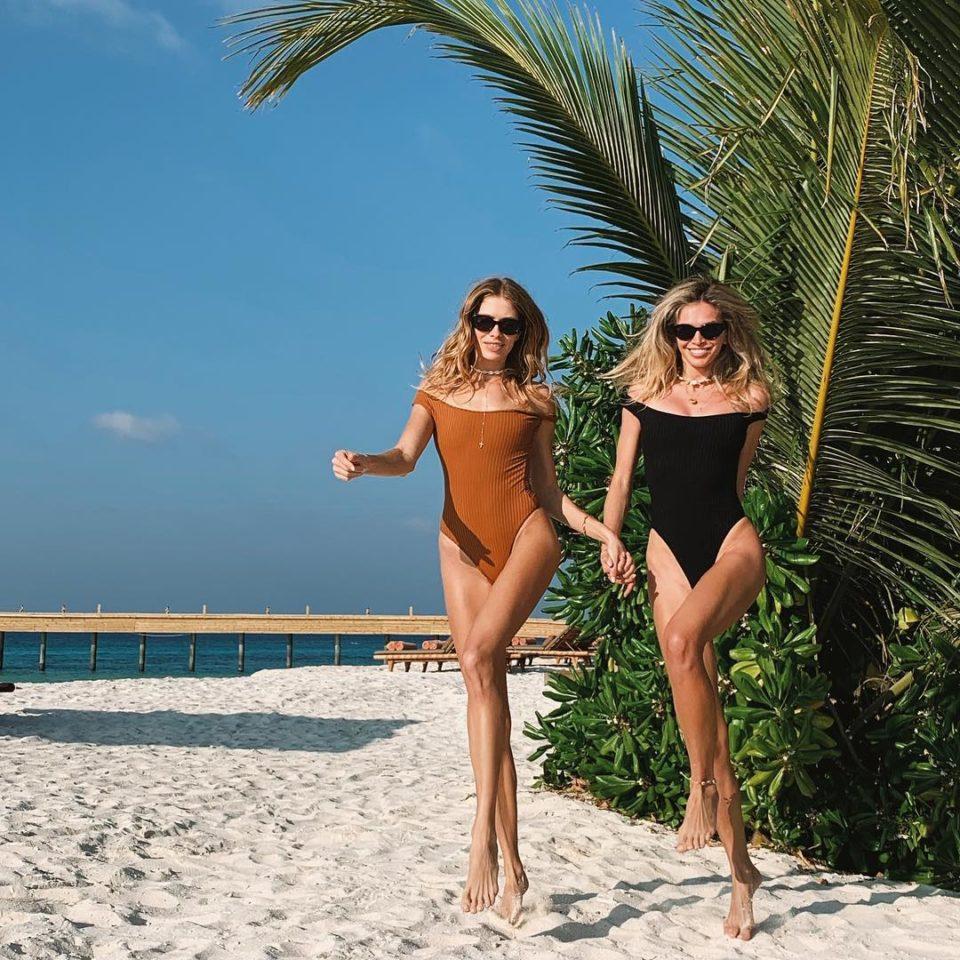 Вера Брежнева и Елена Перминова на пляже