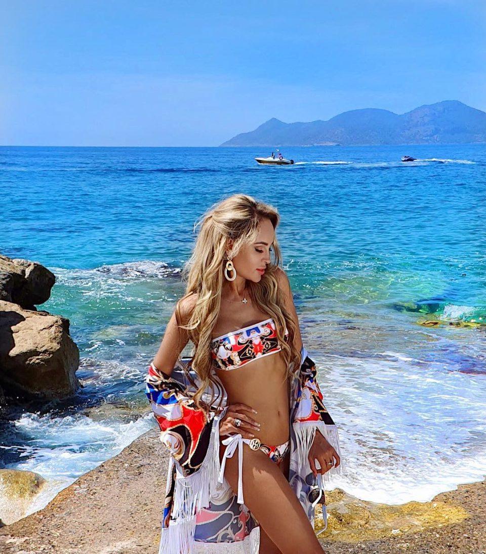 Анна Калашникова на отдыхе в Турции, 2019
