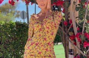 Певица Ханна показала нежный летний образ в коротком платье