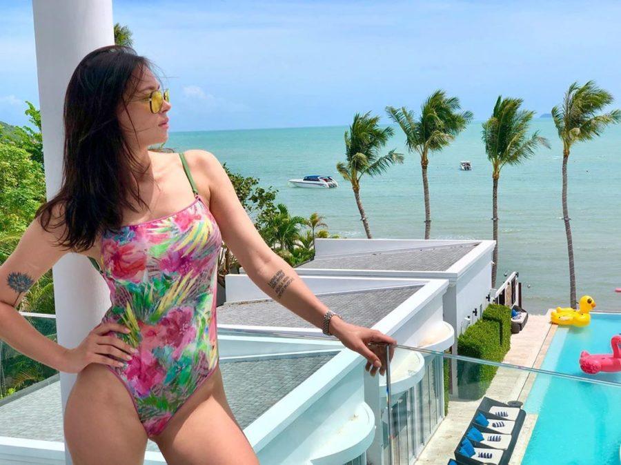 Настасья Самбурская на отдыхе в Таиланде