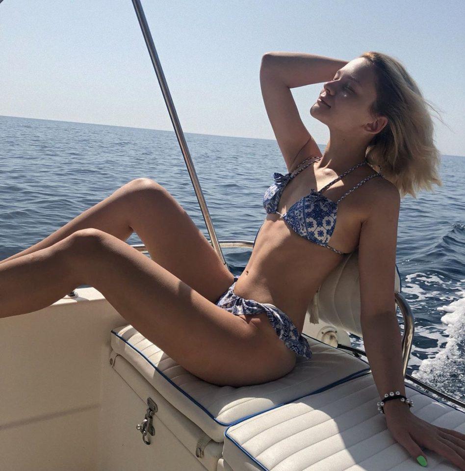 Лима Оста на отдыхе в Италии
