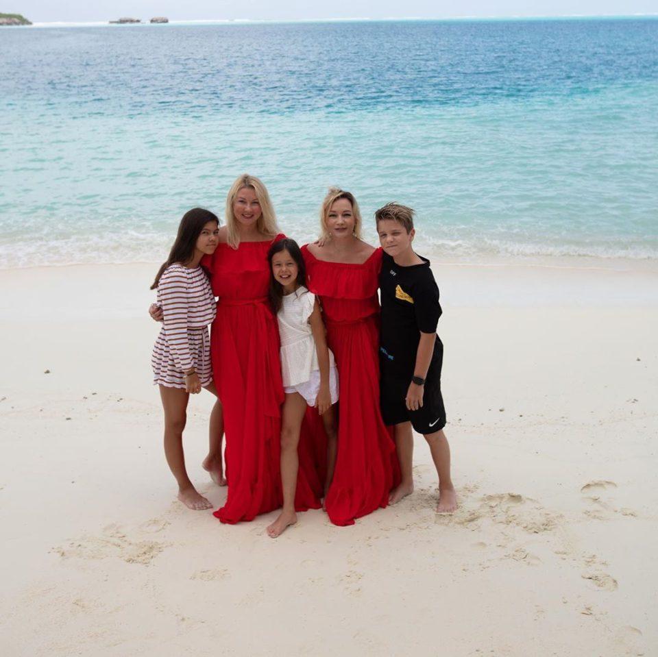 Татьяна Буланова на отдыхе на Мальдивах