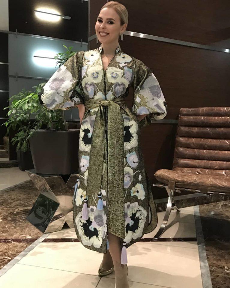 Пелагея в платье в японском стиле