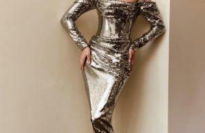 Полина Гагарина показала образ в красивом блестящем платье