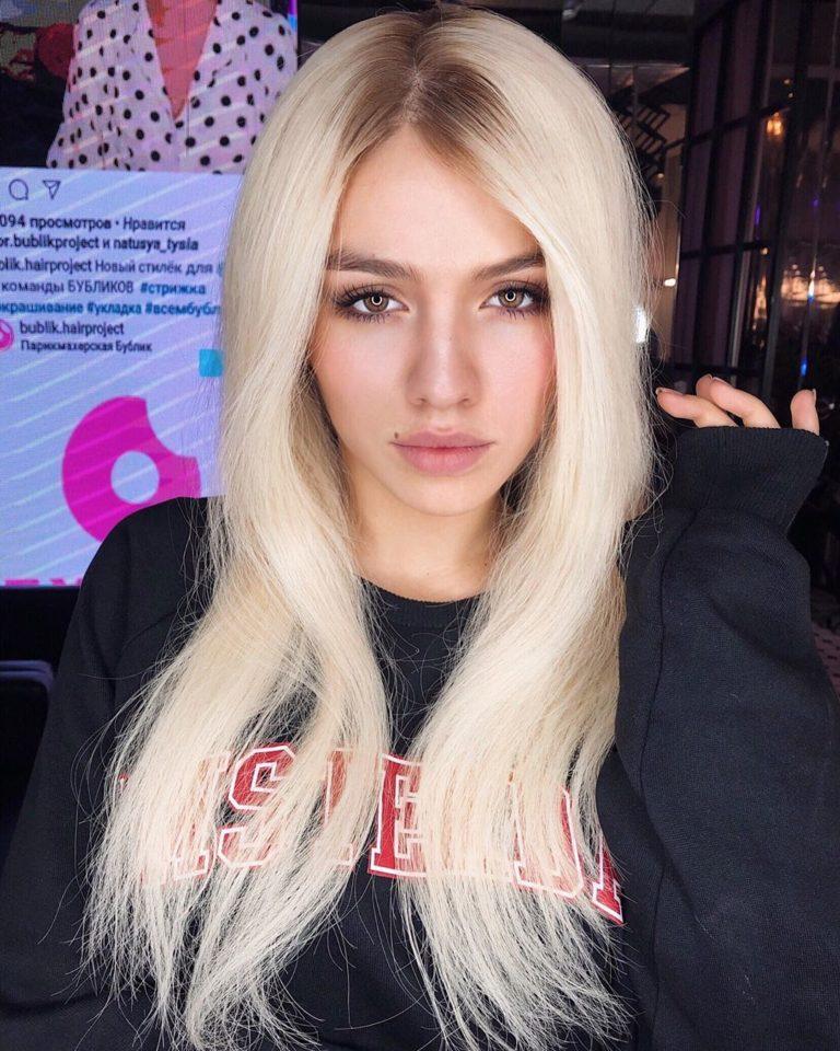 Люся Чеботина в образе блондинки
