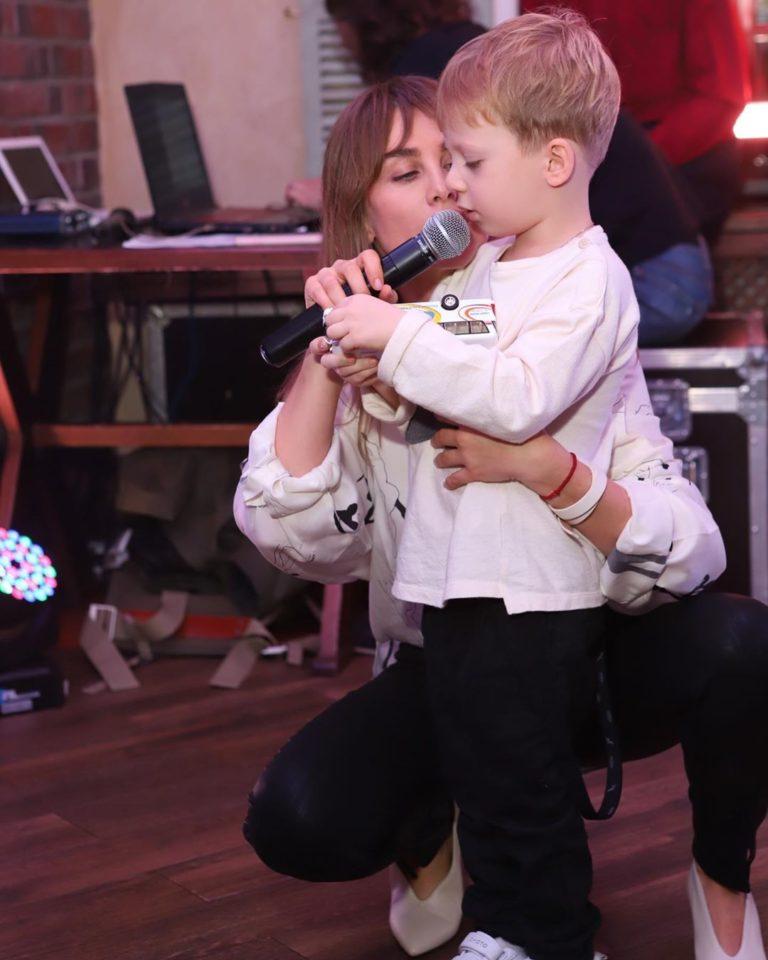 Юлия Беретта и сын
