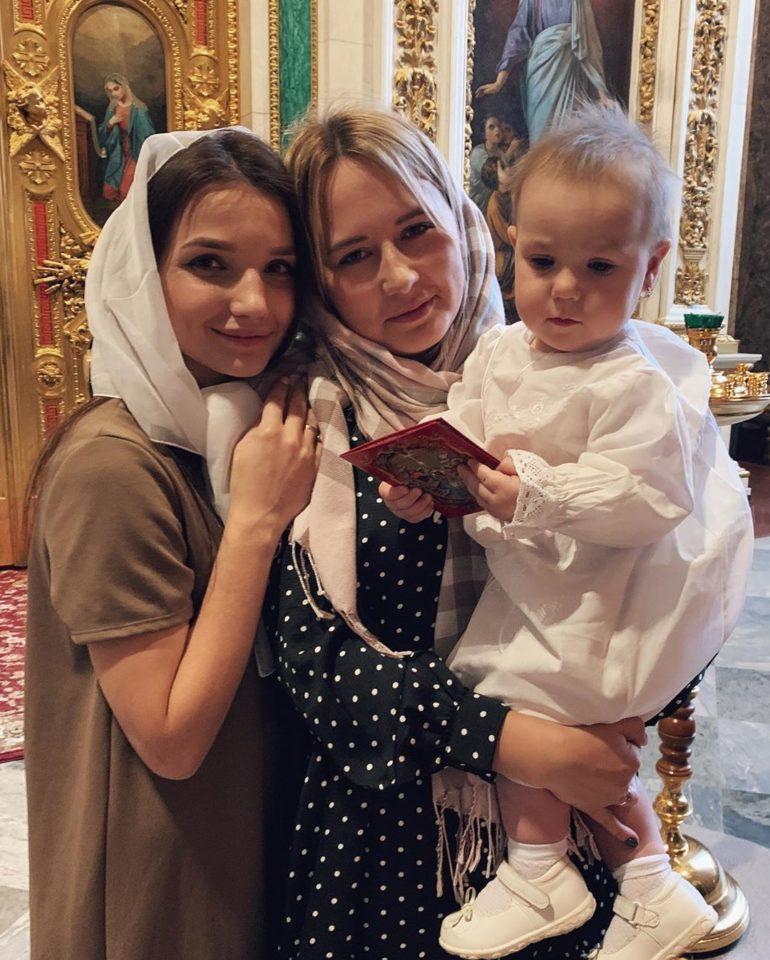 Крещение дочки Анастасии Казаку