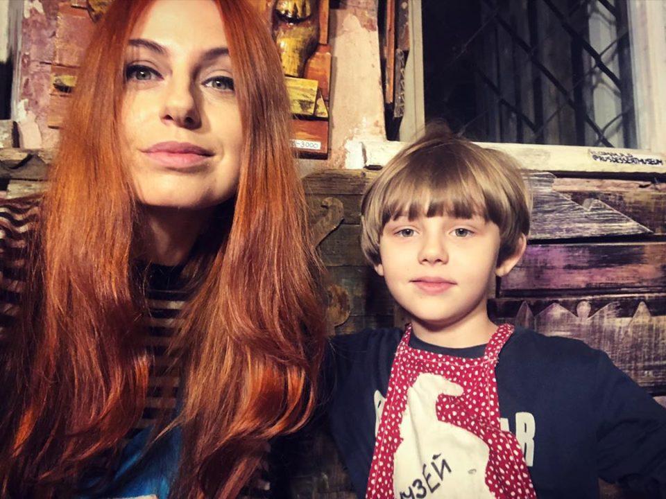 Ирина Забияка с сыном Матвеем