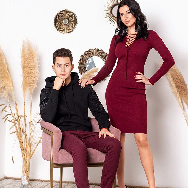 Мария Вебер с сыном Оскаром