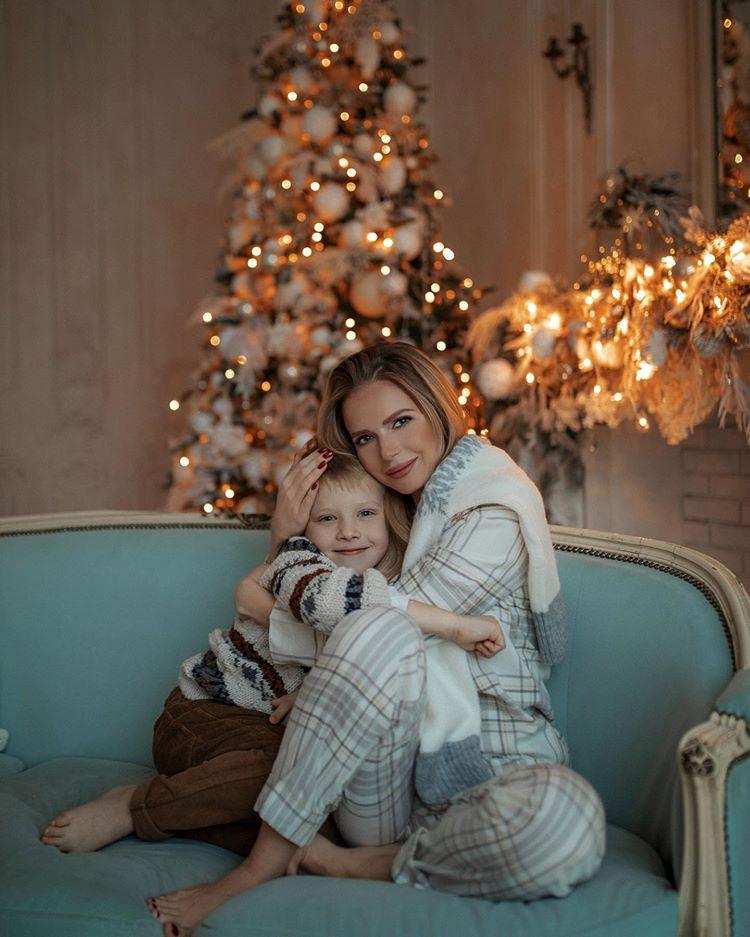 Юлия Михальчик с сыном Александром