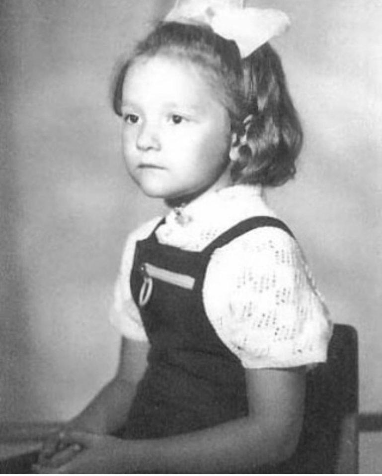 Татьяна Буланова в 6-летнем возрасте