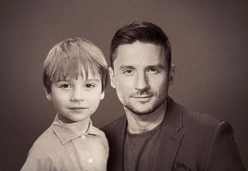 Сергей Лазарев в детстве и сейчас
