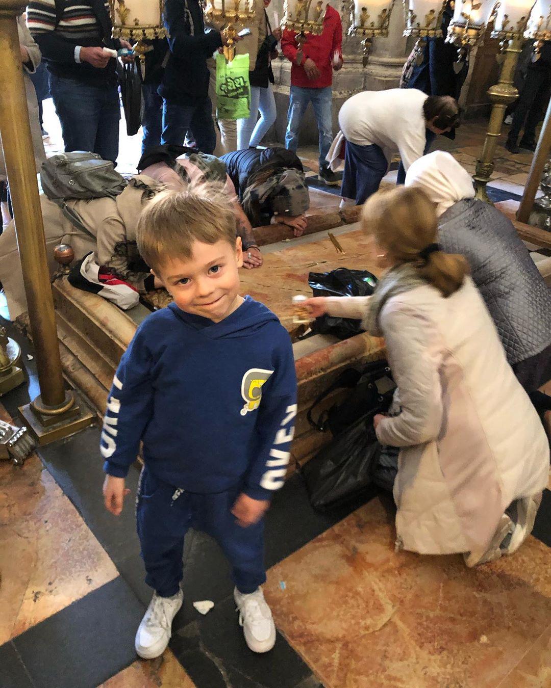 Наталья Подольская показала фото с сыном в Иерусалиме