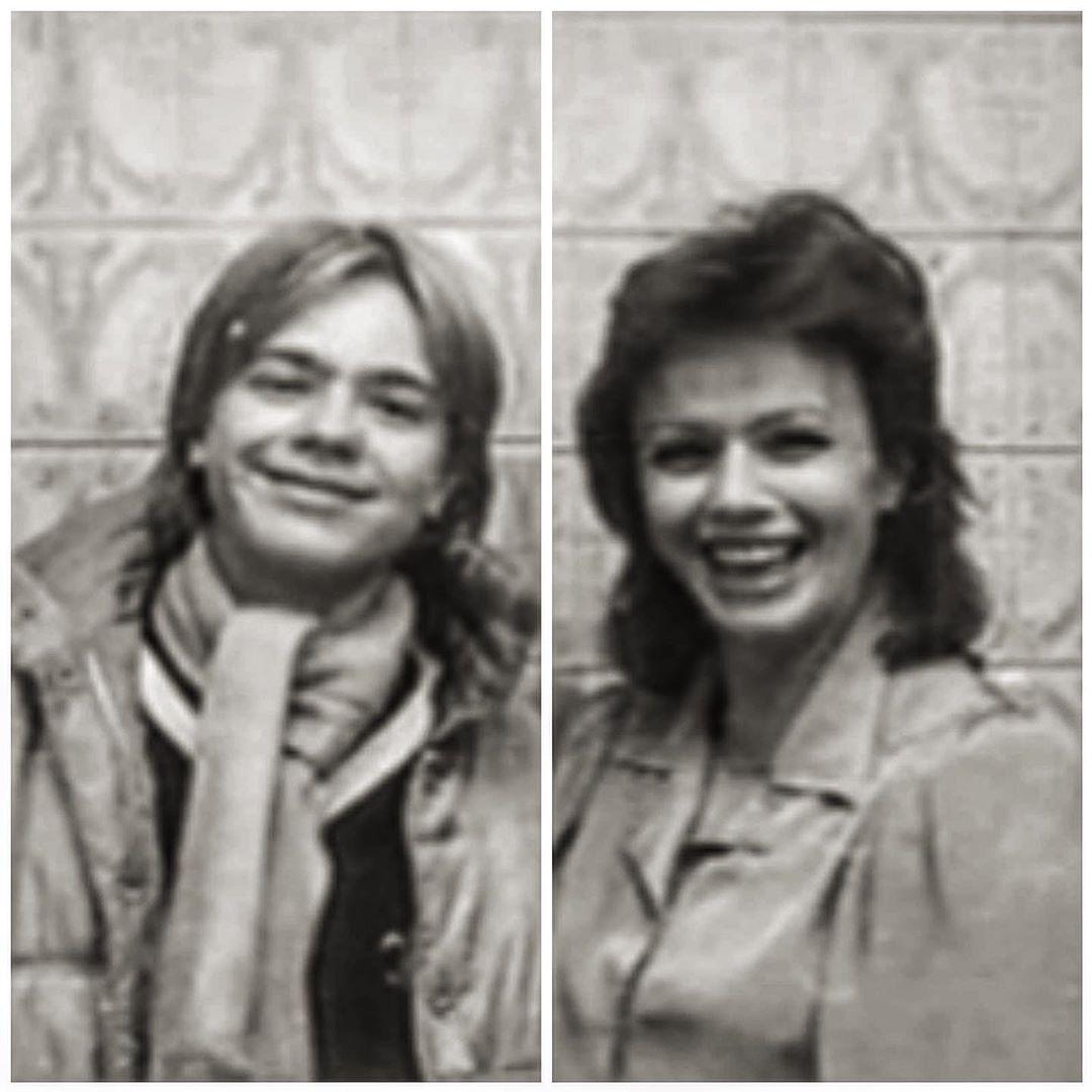 Владимир Пресняков в 14-летнем возрасте с мамой