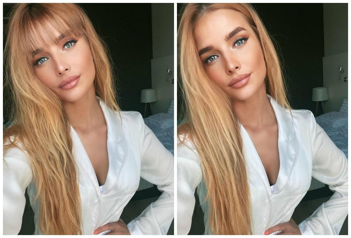 Татьяна Котова с челкой и без
