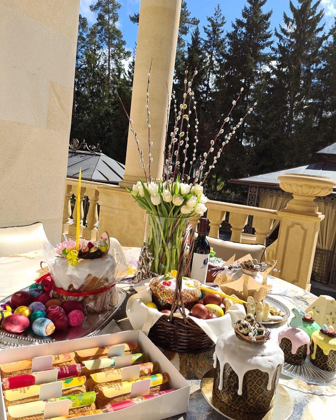 Пасхальный праздничный стол