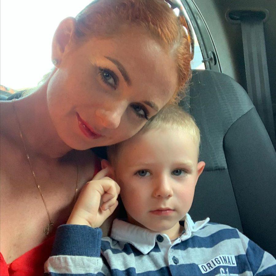 Лена Катина с сыном Сашей