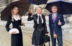 Александр Малинин с женой и дочерью сходили на концерт звезд мировой оперы