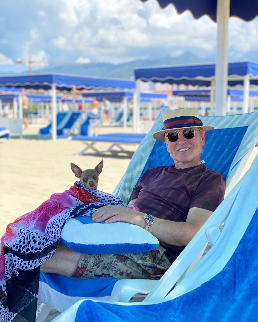 Александр Малинин на отдыхе в Италии