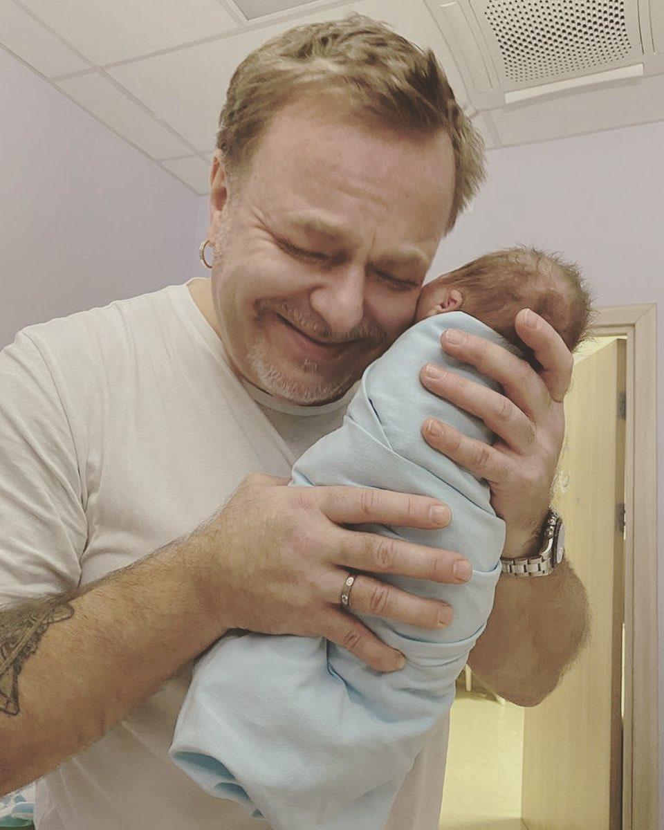 Владимир Пресняков с сыном Ваней.