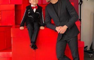 Сергей Лазарев с сыном Никитой на работе