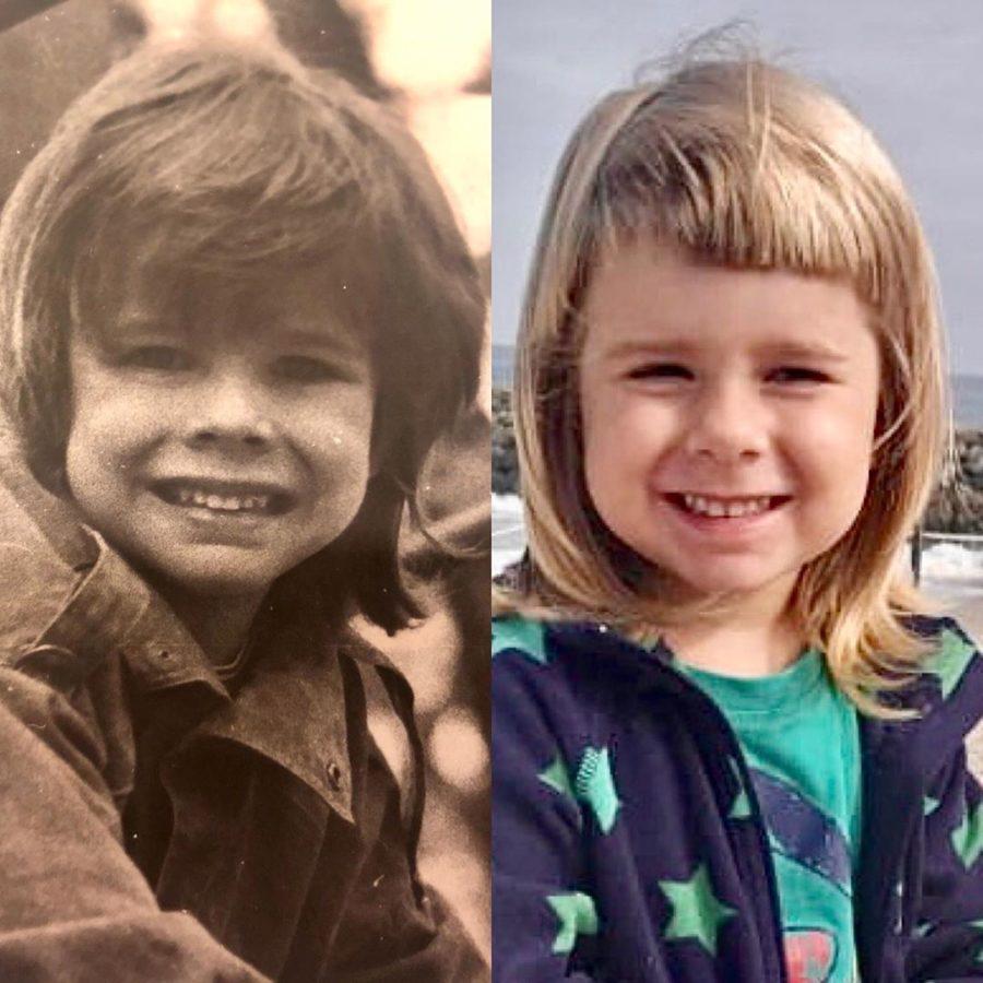 Александр Аршинов в детстве и его дочка Анна