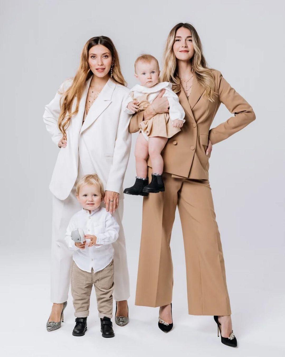 Регина Тодоренко и Алина Топалова и их дети